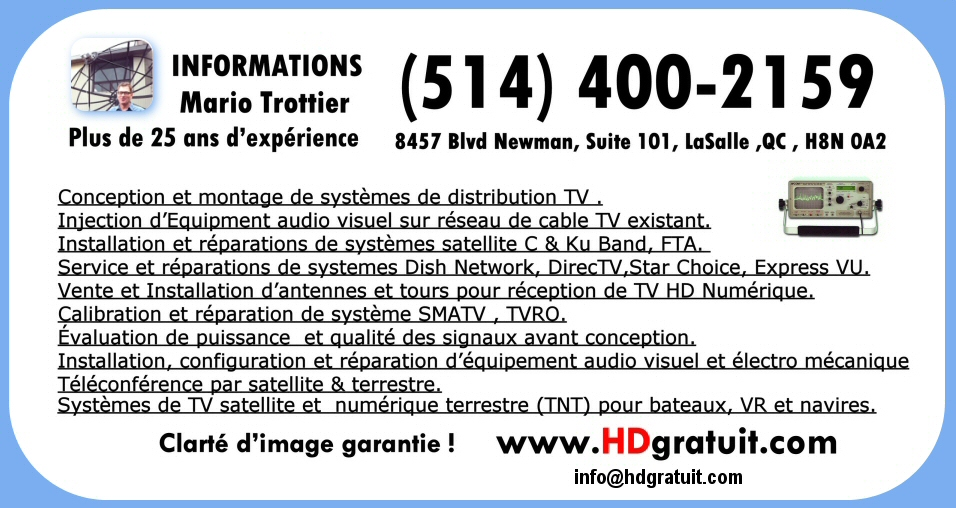 SATELLITE & ANTENNA TECHNICIAN IN MONTREAL